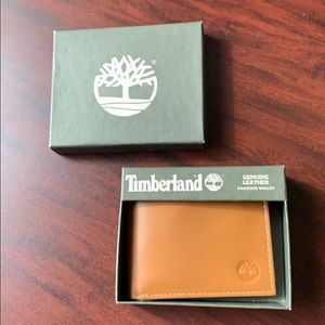 TIMBERLAND GENUINE LEATHER PASSCASE WALLET